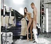 Naughty hottie garage screw