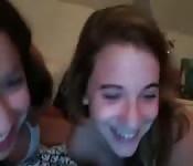 Cute teens on webcam chat