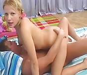 Blonde eurobabe loves anal fun