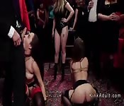 Orgy slaves torment at bdsm party