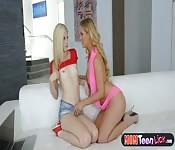MILF stepmom hot lesbian sex with a teen