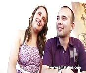 Una coppia colombiana scopa per la fama