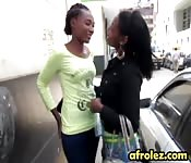African lesbians making out in shower