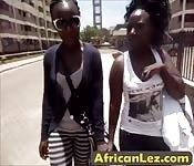Amateur black lesbians in action