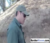 Sexy redhead punished at the border