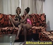 African chicks in hot lesbian action