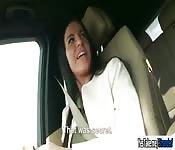 Eveline Dellai fuck stranger in the car
