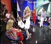 María Lapiedra nue à la télévision