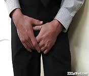 Horny Intern Caught Masturbating!