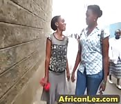 Africa lesbo porn scenes with two babes