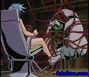 Hentai dai capelli blu e robot