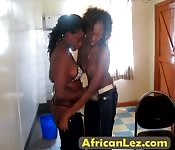 Hot ebony lesbians loves fingering