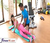 Young hot babe banged after yoga session