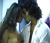European couple enjoys romantic sex