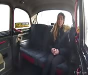 Amateur babe gets big cock in fake taxi