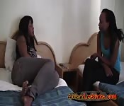 Ebonies Alisha and Virgin in fingering