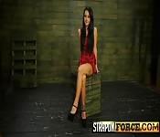Skinny Brunette Hanna Bondaged