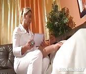 Milf Doctor Blows Patient's Dick