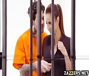 Inmates big cock swallow by Isis Love