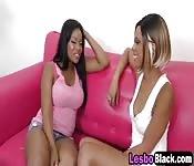 Lesbian black babes fingering licking