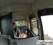 Slutty passenger anal fucked in the cab
