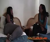Ebony African babes lesbian cunt licking