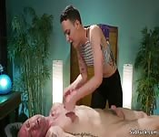 Masseuse torments and fucks male client