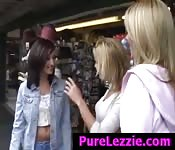 shopping and lesbian sex with the girls