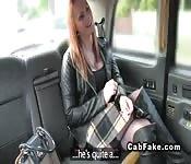 Cab driver fucks hard busty blonde
