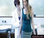 Big natural boobs women lesbian massage