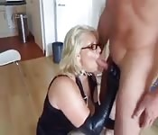 Mature blonde loves cocks