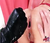 First Anal Fist Teen. Ruined Asshole!