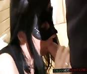 Masked Latina is hot