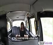 Kinky passenger anal fucked in the taxi