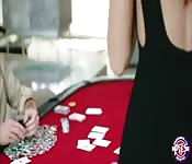 Avi Love gets a group sex in the poker table