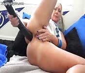 Big breasted blonde fucked by black monster.