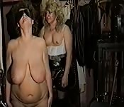 Mature lesbians with big tits fuck each other hard