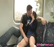 Sexe amateur dans le train