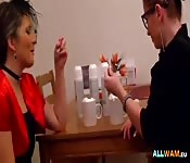 Lesbians having fun with cream