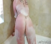 Shaved pussy chick first time anal sex