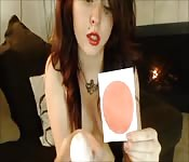 Rossa dilettante in webcam