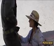 Perky tits gal Paisley Parker public sex