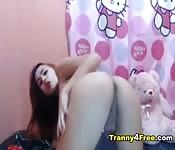 Masturbazione per una trans asiatica