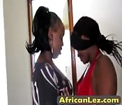 African babes make love in bathroom