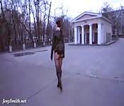 Rossa sexy esibizionista