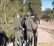 Border patrol officers fucked hot babe