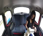 Blonde fake taxi driver toys brunette