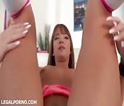 Anal play with a horny slut.