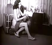 Pretty woman nude in vintage video