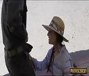 Beautiful babe Paisley Parker public sex
